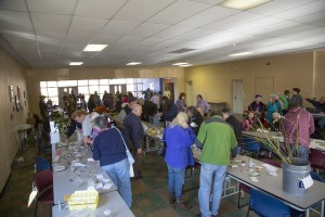 Gardeners at seed swap