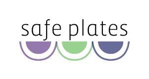 Text reads: Safe Plates with illustration of 3 half plates below