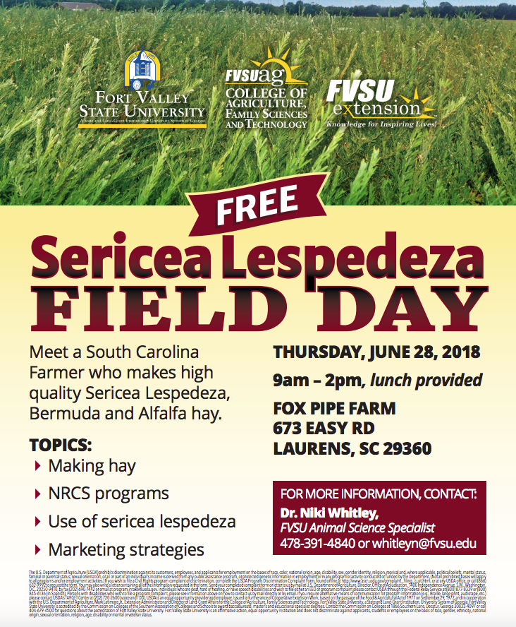 Lespedeza Field Day Flyer image