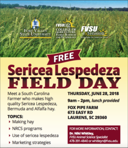 Lespedeza Field Day Flyer