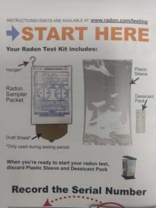 Radon Test Kit Instructions