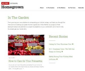 Screen Shot of HomeGrown Garden Site